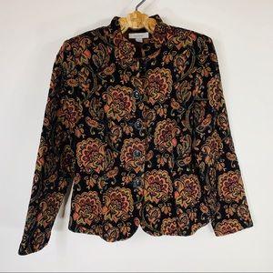 Tapestry Jacket Steam Punk Black Rust Sz Small